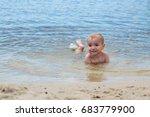 happy little boy having fun and ... | Shutterstock . vector #683779900
