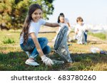 happy child holding package for ... | Shutterstock . vector #683780260
