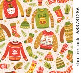 Winter Seamless Pattern With...