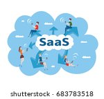 concept of saas  software as a... | Shutterstock .eps vector #683783518