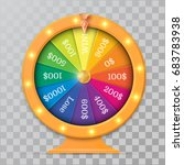 fortune spinning wheel in flat... | Shutterstock .eps vector #683783938