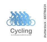 bicycle logo design template... | Shutterstock .eps vector #683786614