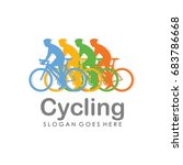 bicycle logo design template... | Shutterstock .eps vector #683786668