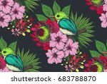 vector seamless pattern with... | Shutterstock .eps vector #683788870