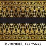 thai art background pattern... | Shutterstock .eps vector #683792293