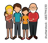 family with kids | Shutterstock .eps vector #683794150