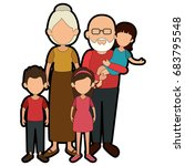 family with kids | Shutterstock .eps vector #683795548