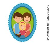 frame with family picture | Shutterstock .eps vector #683796643