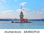 the maiden's tower   istanbul | Shutterstock . vector #683802910