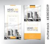 vertical banner vector template ... | Shutterstock .eps vector #683803039