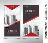 vertical banner vector template ...   Shutterstock .eps vector #683803378