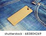 blank label price tag mockup on ... | Shutterstock . vector #683804269