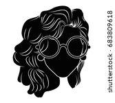 retro woman cartoon   Shutterstock .eps vector #683809618