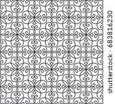 vintage monochrome seamless... | Shutterstock .eps vector #683816230