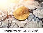 huge stack of cryptocurrencies... | Shutterstock . vector #683817304