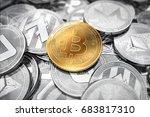 huge stack of cryptocurrencies... | Shutterstock . vector #683817310