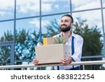 happy businessman with... | Shutterstock . vector #683822254
