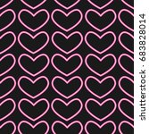 neon heart pattern vector | Shutterstock .eps vector #683828014