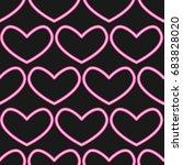 neon heart pattern vector | Shutterstock .eps vector #683828020