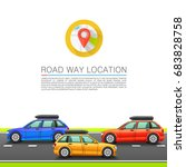 car travel on the location.... | Shutterstock .eps vector #683828758