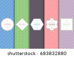 collection of seamless... | Shutterstock .eps vector #683832880