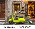 pitigliano  italy   may  2015 ... | Shutterstock . vector #683833069