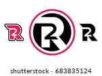 r2 r 2 two letter number... | Shutterstock .eps vector #683835124