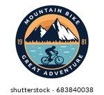 modern downhill bike logo badge ... | Shutterstock .eps vector #683840038