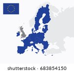 a map of the european union | Shutterstock .eps vector #683854150