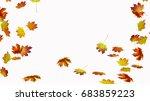 fall leaves on white background | Shutterstock . vector #683859223
