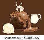 an illustration of a hot... | Shutterstock . vector #683862229