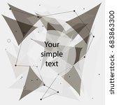 wireframe mesh broken polygonal ... | Shutterstock .eps vector #683863300