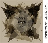 wireframe mesh broken polygonal ... | Shutterstock .eps vector #683863324