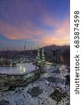 sunrise in  mecca | Shutterstock . vector #683874598