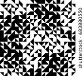 geometric  black and white... | Shutterstock .eps vector #683880550