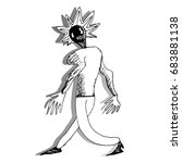 Grotesque Sketchy Figure
