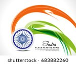 abstract indian independence... | Shutterstock .eps vector #683882260