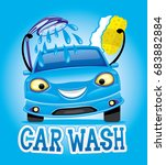 car wash. | Shutterstock .eps vector #683882884