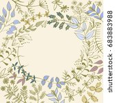 vector pattern floral wreath... | Shutterstock .eps vector #683883988