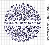 back to school banner signboard ... | Shutterstock .eps vector #683884588