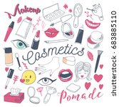 makeup and cosmetics beauty... | Shutterstock .eps vector #683885110