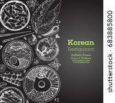 korean food menu restaurant....   Shutterstock .eps vector #683885800