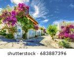 bodrum street view in turkey  ... | Shutterstock . vector #683887396