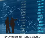financial graphs analysis and... | Shutterstock . vector #683888260