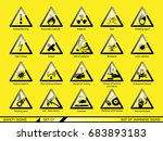 set of safety warning signs.... | Shutterstock .eps vector #683893183