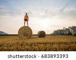 Man Running In A Wheat Field I...