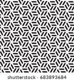 geometric black and white... | Shutterstock .eps vector #683893684