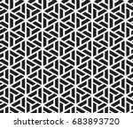 geometric black and white... | Shutterstock .eps vector #683893720
