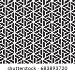 geometric black and white... | Shutterstock .eps vector #683893720