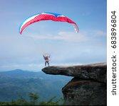 parasmotors running up and... | Shutterstock . vector #683896804